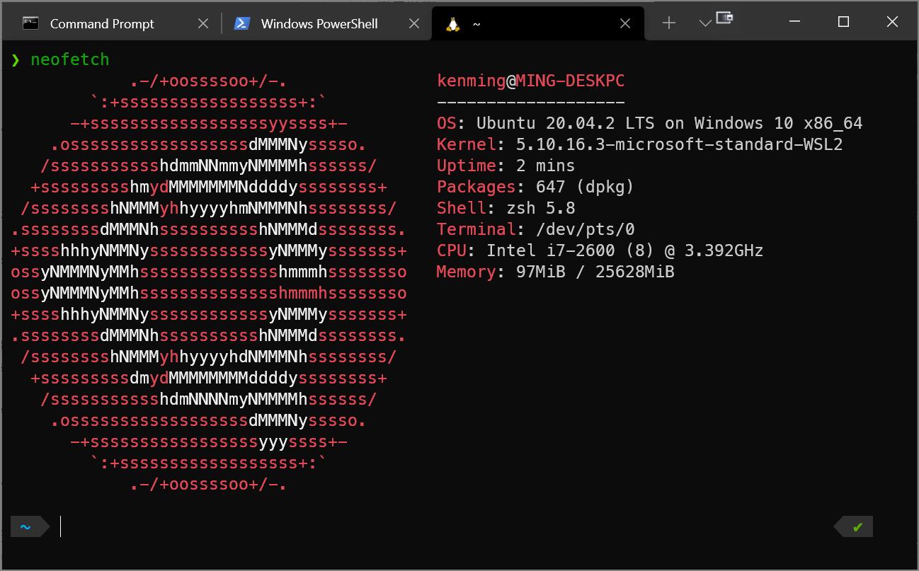 進入 Ubuntu Shell