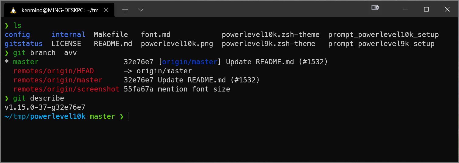 Windows Terminal 美化 for WSL 2 Ubuntu (zsh + zim + powerlevel10k)