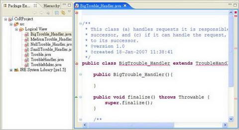 圖 9、從 EA Model 轉換到 Eclipse 的 Java 程式碼
