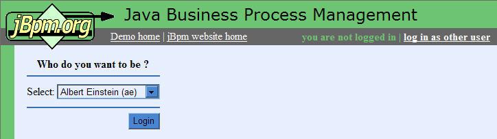 jBPM2 的登入執行畫面