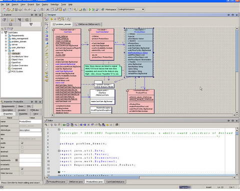 Screenshot-Borland Together Architect 1.1