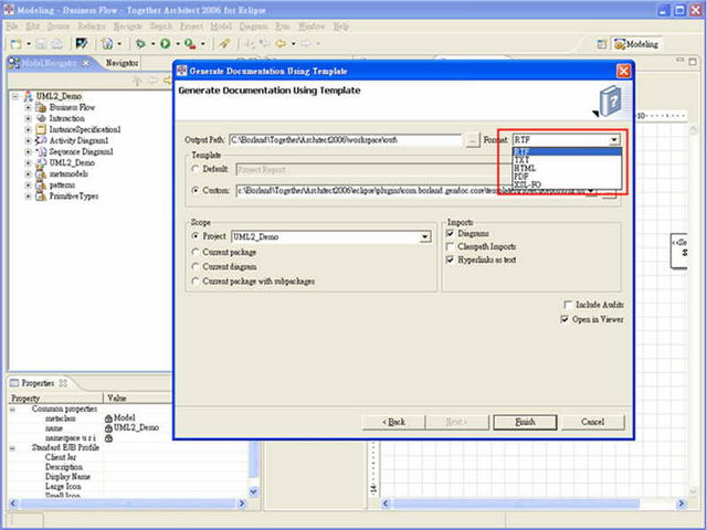 圖6、Together 的產生開發文件的操作畫面