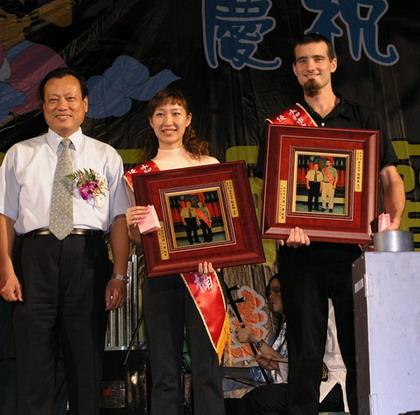 93 年度永和敬師邀月聯歡晚會,Teacher Jason 榮獲優良教師獎